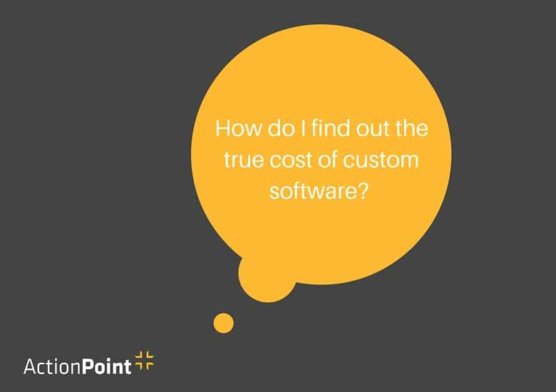 The true cost of custom software